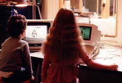 Apple II with monitor